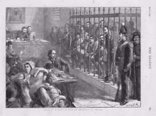 1873-antica stampa Italia AQUILA BRIGANTI prova SOLDATO LEGGE Giudice (074)
