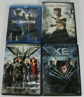 X-Men & The Wolverine DVD and Blu-Ray Lot of 4 Movies