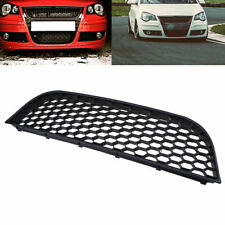 Black Front Center Bumper Grille Cover for VW GTI Polo MK4 9N3 05-09 Facelift