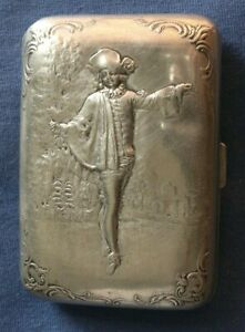 283-Antique French sterling silver cigarette case