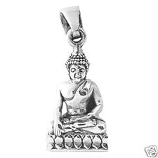 Buddha Pendant Sterling Silver 925 Buddhist Tibetan Best Price Jewelry Gift 22mm