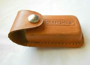 Craftsman One Pocket Leather Tool Multi Purpose Knife Pouch Belt Loop 4''