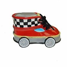 Giftcraft Boys Childs Piggy Bank Shoe Red Race Car Speed Bedroom Decoration