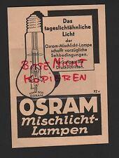 Berlín, publicidad 1941, Osram GmbH KG mischlicht-lámparas