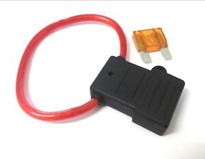 Maxi blade fuse holder Splash proof In Line *Free 40 Amp fuse! *Top Quality!