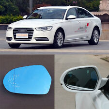 Rearview Mirror Blue Glasses LED Turn Signal Power Heating For Audi A6l