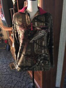 Junior Ladies Pullover Top Size M Mossy Oak