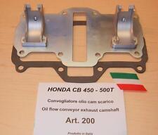 Honda CB450 Cappellini #200 exhaust camshaft oil flow conveyor reduces cam wear
