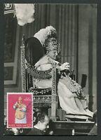 VATICAN MK 1959 PAPST JOHANNES POPE PAPA PAPIEZ CARTE MAXIMUM CARD MC CM d3072