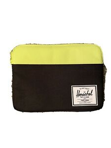 Herschel Anchor Sleeve iPad Air Padded Tablet Case Black Neon NWOT!