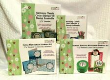 Lot of 4 Just Rite Harmony Classic Stamper Kits Circle Oval Stamps Monogram Kits