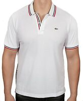 Lacoste L!VE Men's Short Sleeve Slim Fit Polo Shirt White PH9542-51 PRB