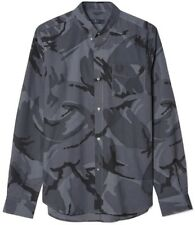 """Fred Perry Logo Laurel Wreath Camouflage Button Down Slim Fit Shirt 44"""" XL"""