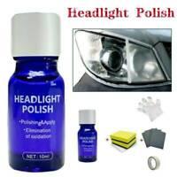 Car Headlight Lens Restoration Plastic Light-Polishing Cleaner System Repair Set