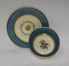 "Lenox china Washington Turquoise pattern Ramekin & Saucer - 1-3/4"" x 3-3/8"""