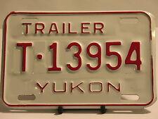 NOS License Plate Trailer Yukon T 13954 Truck Car Sign Garage Man Cave