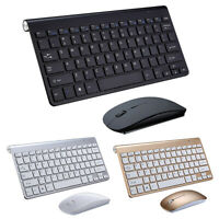 Wireless Keyboard And Mouse Combo Set 2.4G For PC Laptop Computer Slim USA