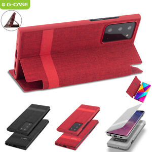 For Samsung Galaxy Note20 Ultra Case Slim Flip Card Wallet Stand Full Body Cover