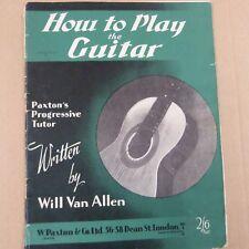 Guitarra cómo tocar la guitarra, se van Allen