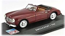 W75 Simca 8 Sport 1949 1/43 Scale Burgundy Tracked 48 Post