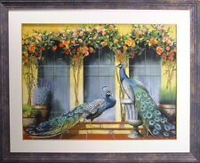 """James Jensen """"Peacocks in Provence"""" Signed Numbered Giclee Art, Make An Offer!"""