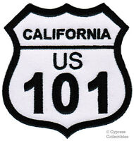 US HIGHWAY 101 iron-on PATCH CALIFORNIA Embroidered HWY ROAD SIGN SOUVENIR new