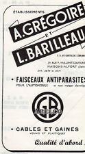 GREGOIRE BARILLEAU FAISCEAU ANTIPARASITE AUTOMOBILE PUBLICITE PUB 1960 FRENCH AD
