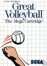Great Volleyball Sega Master Great Condition