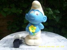 Schlumpf mit Blume / Figur Leuchte - Kinderlampe - Lampe - Peyo  - RAR