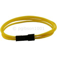 4 Pin ATX Yellow Braided Male to Female Motherboard Power Extension Cable 34 cm
