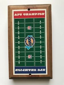 NFC AFC Super Bowl XXVIII Game Vintage Wood Plaque Board Man Cave Decor