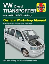 Haynes Workshop Manual 5743 Volkswagen VW Transporter T5 1.9 2.0 2.5 Diesel