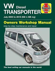 Haynes Workshop Manual 5743 Volkswagen VW Transporter T5 1.9 2.0 2.5 Diesel