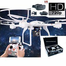 FPV WiFi 3d Drone/Quadcopter in valigetta in alluminio HD Live immagine telecamera c4018+3d VR-Occhiali