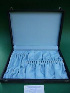 Besteck Etui 4x6 Essbesteck Besteckkasten DDR hellblau Messer Gabel Löffel leer