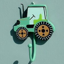 LOVE HOOKS - Children's Green Tractor COAT HOOK, Kid,boy,nursery,construction
