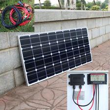 100w 12v Solar Panel Kit, Monocrystalline Cells 10A Controller & Battery Lead UK