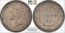 Newfoundland 1894 Ten Cent.  PCGS Genuine Cleaning XF Detail.  Rather a nice!!