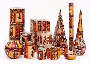 KAPULA FAIR TRADE SOUTH AFRICAN HAND PAINTED CANDLES - ' BUSHMEN DESIGN '