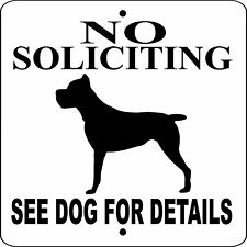 "Cane Corso Dog Sign,No Soliciting,9"" x 9"" Aluminum Sign,Guard,Warning,nscc9x 9"