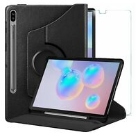 For Samsung Galaxy Tab S6 Case 360 Stand Cover & Glass Protector T860 / T865