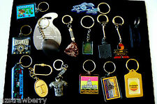 lot of 15 Keychain Key Chain Ring Advertisments Travel Stone Footbal Jersy Lexus