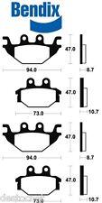 4 Plaquette de Frein Avant Bendix  KYMCO KXR MXU MAXXER 250 300 quad Brake pads
