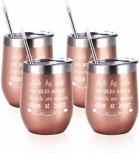 4 Pack!! Rose Gold Friends Thermal Insulated Cups