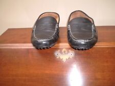 POLO RALPH LAUREN MEN'S LOAFERS BLACK LEATHER SIZE 10.5 SHOW VERY LITTLE WEAR