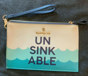 "Spartina 449 Wristlet UNSINKABLE - Aquatic Theme - 8.5"" by 6""  Zipper Purse"