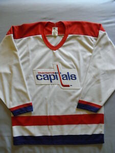 CCM Washington Capitals Vintage replica jersey sz S SM SMALL Maska Caps Blank