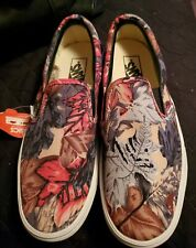 Vans Classic Slip On Autumn Leaves Pattern Size 9.0 Mens/10.5 Womens