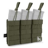 KRYDEX Triple 5.56 .223 Open Top Mag Pouch Modular Holster MOLLE Ranger Green