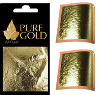 10 packs wholesale job lot  24CT Gold Leaf 100% Genuine Scrap Gold Sheets
